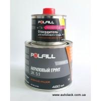 Polfill  Грунт акріловий Polfill 5:1 Eco 0.4л сірий+зат. 0.08л