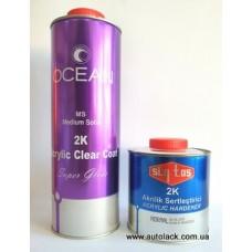 OCEAN  Лак акриловий 1л. MS 2K Brillant Clear + затверджувач акриловий Sintas 0.5 л.