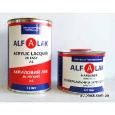 Alfa Лак прозорий  EASY 1л+ затверджувач 4000 0,5л