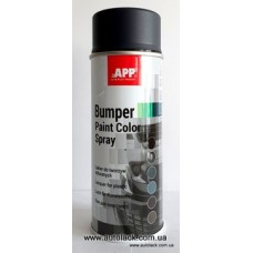 APP Bumper Paint - чорна 400 мл. аероз. фарба структурна для бамперів