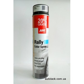 APP Rally Color  фарба акр. чорий. мат 600ml